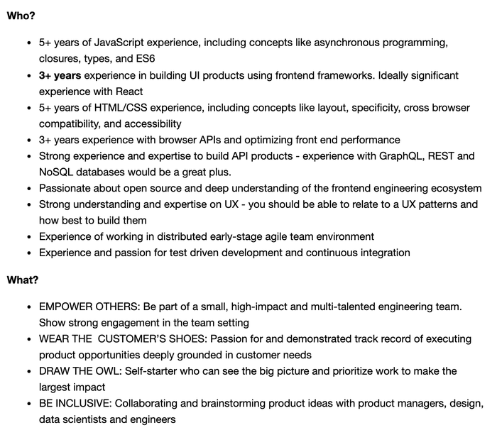"""Twilio's posting for """"Staff Frontend Engineer - Engagement Intelligence"""""""