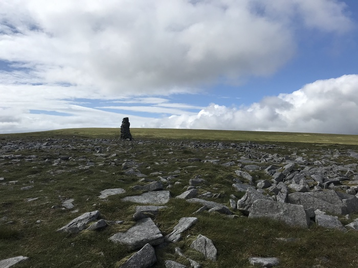 I've seen other pictures where the cairn is leaning a totally different way