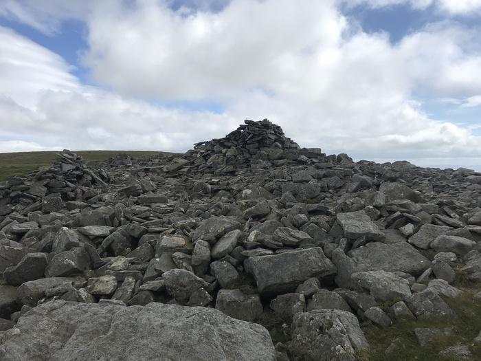 Rocks on the summit of Little Dun Fell